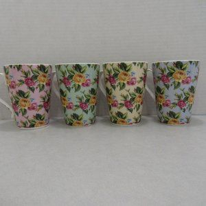 Set 4 Hudson Middleton Chintz Floral Tea Cup China
